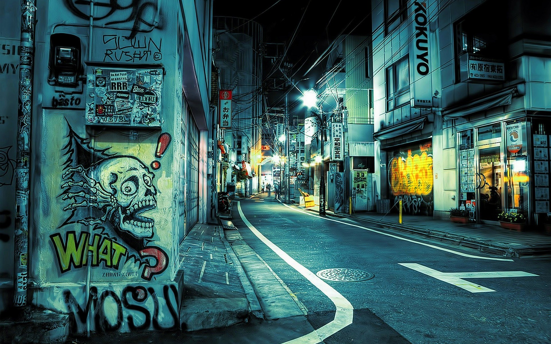 Wallpapers Japan Tokyo cityscapes graffiti urban streetscape 1920x1200