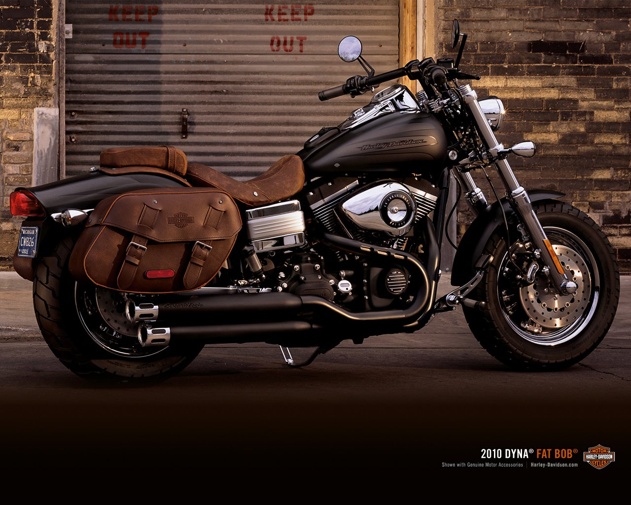 Harley Davidson Fat Bob 2010 wallpaper 61776 1280x1024