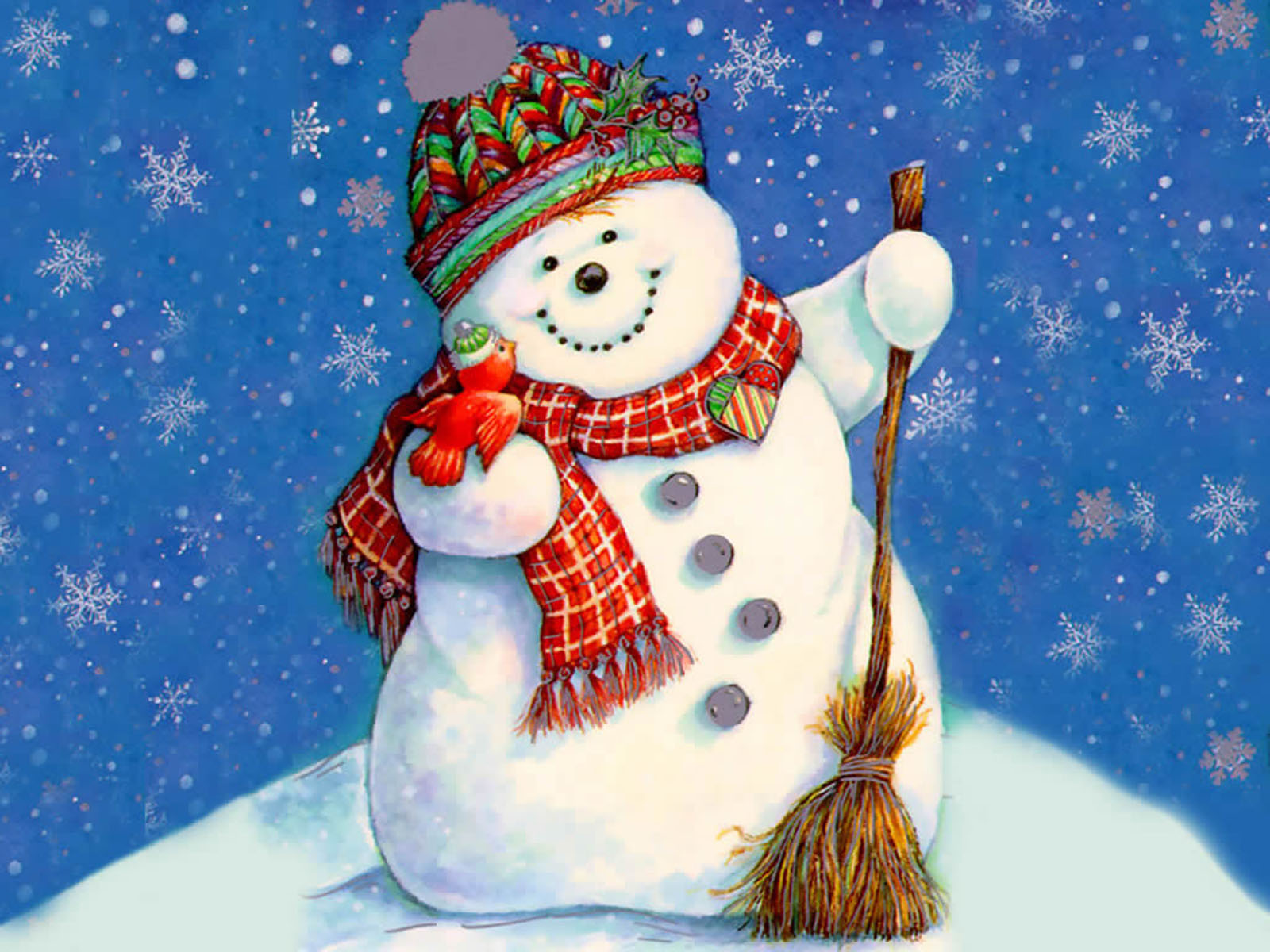 wallpapers Christmas Snowman Wallpapers 1600x1200