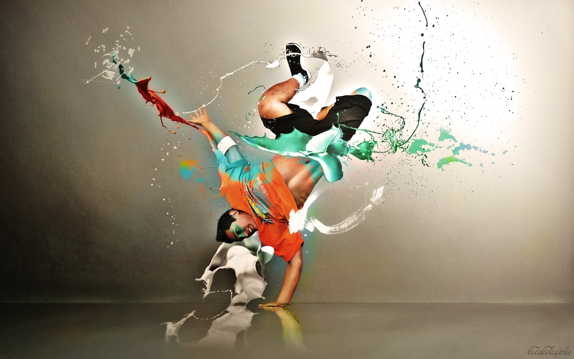 Florian Nicolle Dance Paint Graphic Design Hip Hop Hd Wallpaper 1920x1200