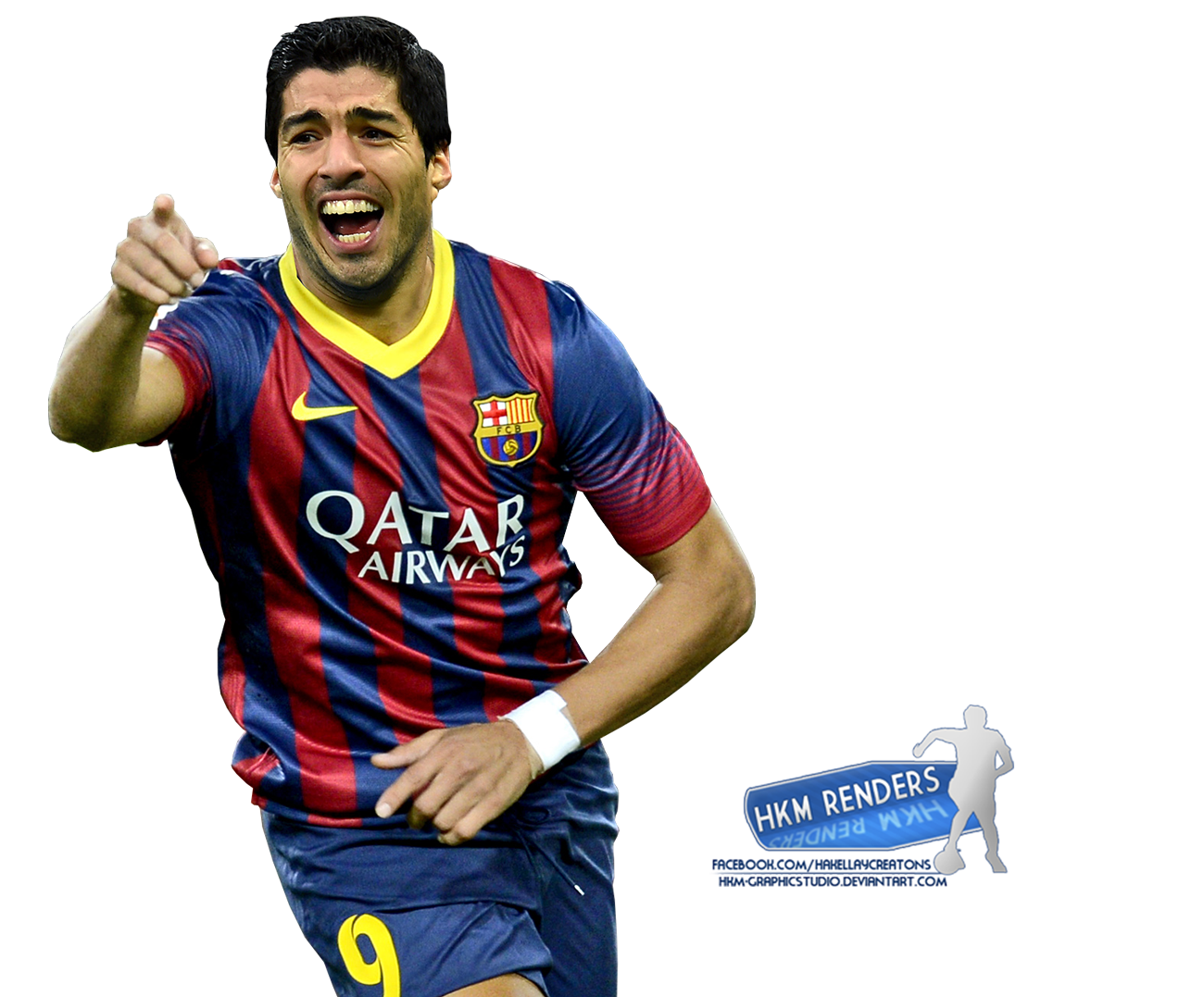 Luis Suarez FCBarcelona by HkM GraphicStudio 1300x1077