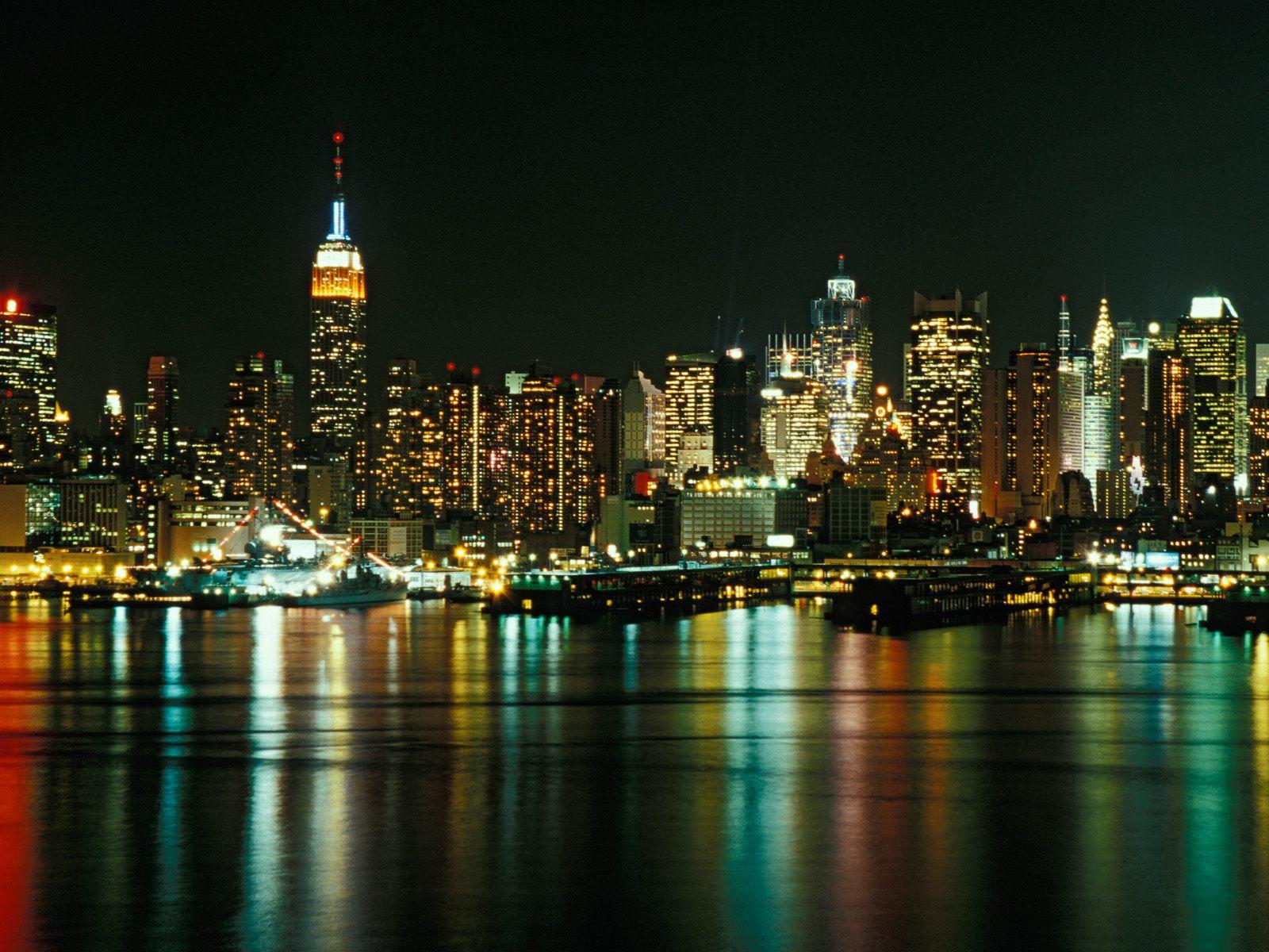 New York City Lights Wallpaper1 Nosso Assunto 1600x1200