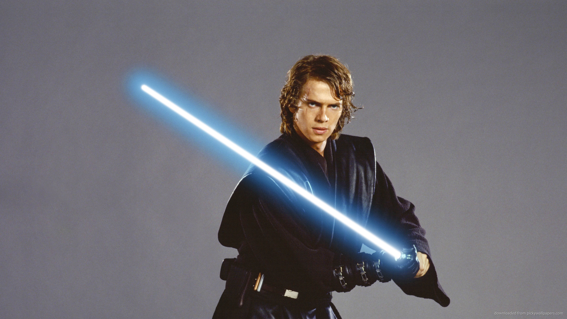 Download 1920x1080 Anakin Skywalker With Jedi Lightsaber Wallpaper 1920x1080