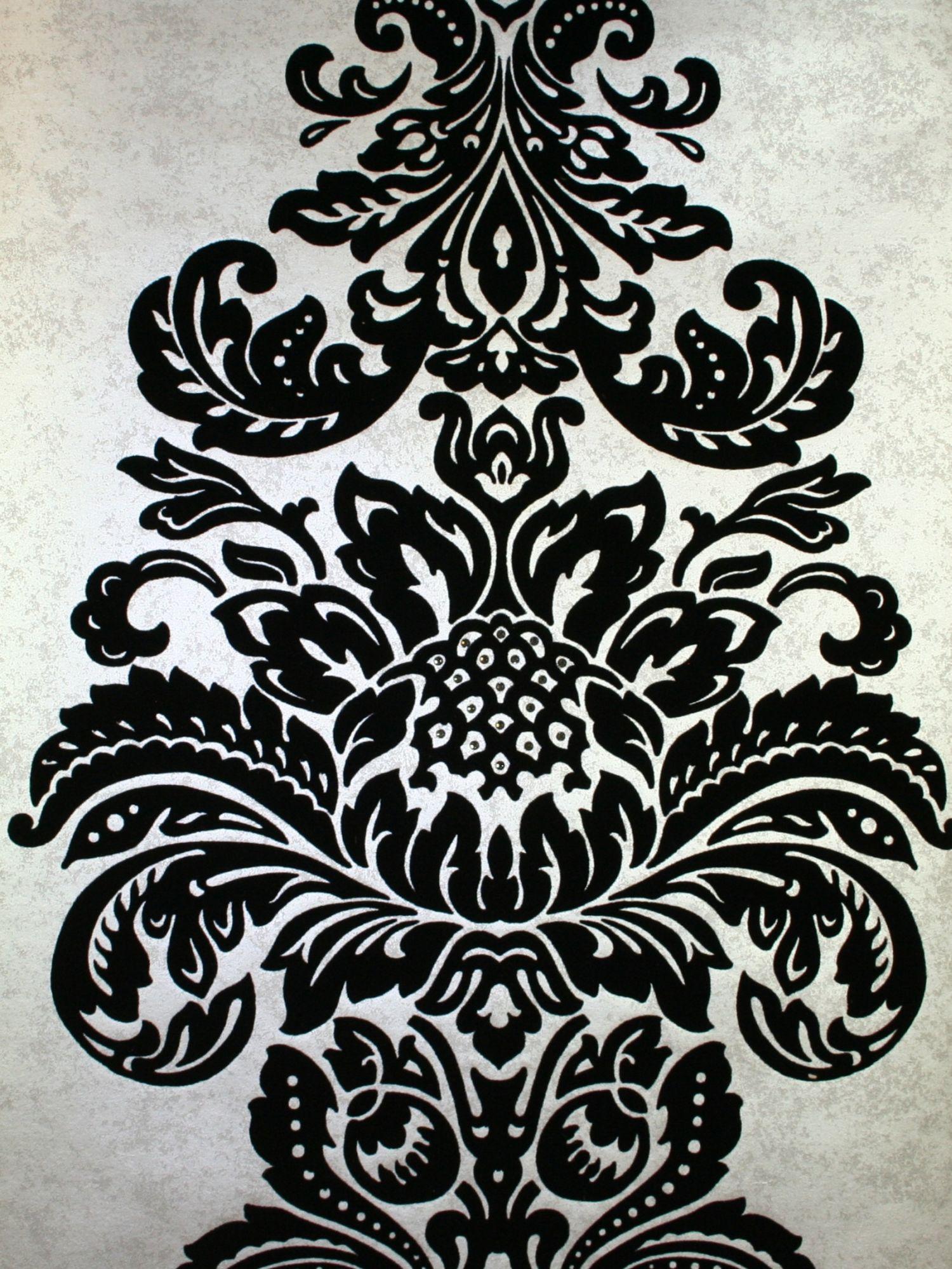 Damask Flocked Wallpaper crystallised by Kandola Wallpaper Direct 1500x1998