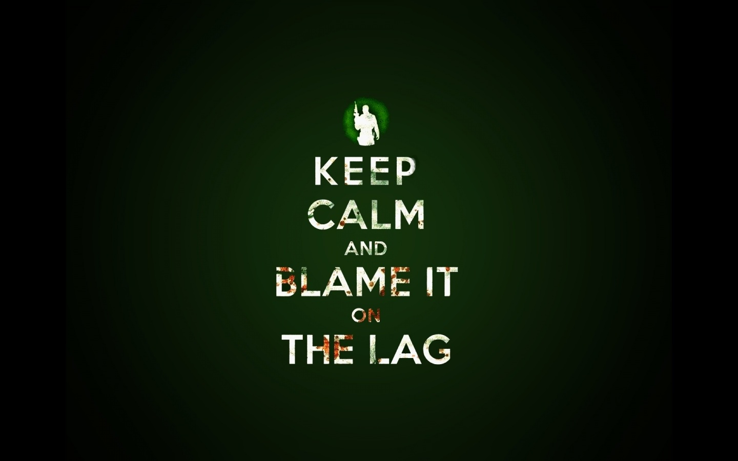 Keep Calm and Blame it on the Lag desktop PC and Mac wallpaper 1440x900