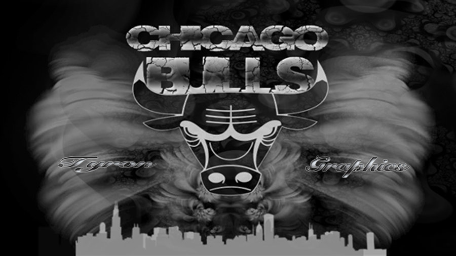 chicago bulls black and white by mademyown 900x506