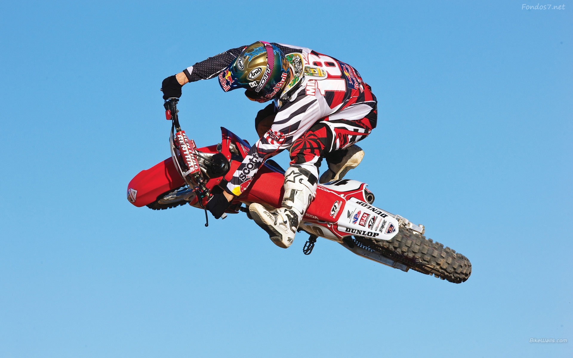Descargar Fondos de pantalla motocross honda red bull hd widescreen 1920x1200