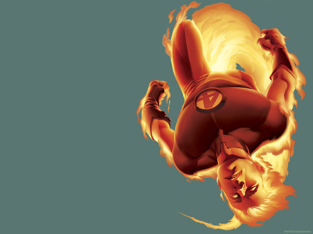 My Wallpapers   Comics Wallpaper Ultimate Human Torch 1024x768