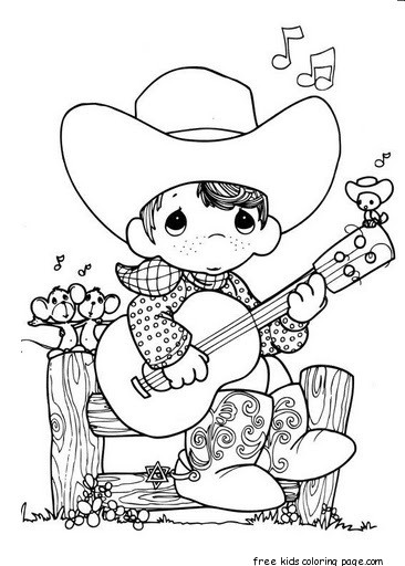 Free download Precious Moments boy playing guitar cowboy ...