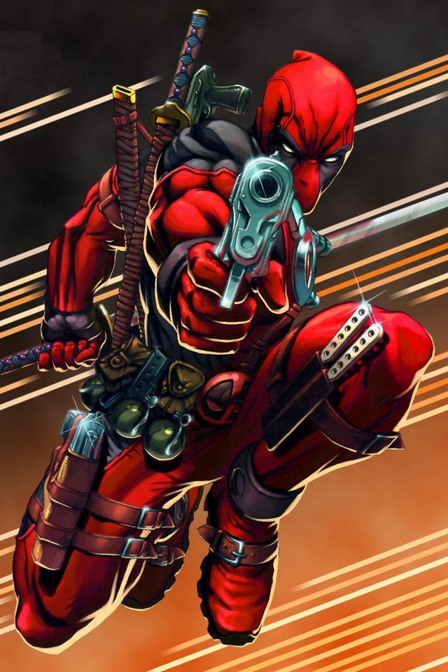 Deadpool man   Download iPhoneiPod TouchAndroid Wallpapers 640x960