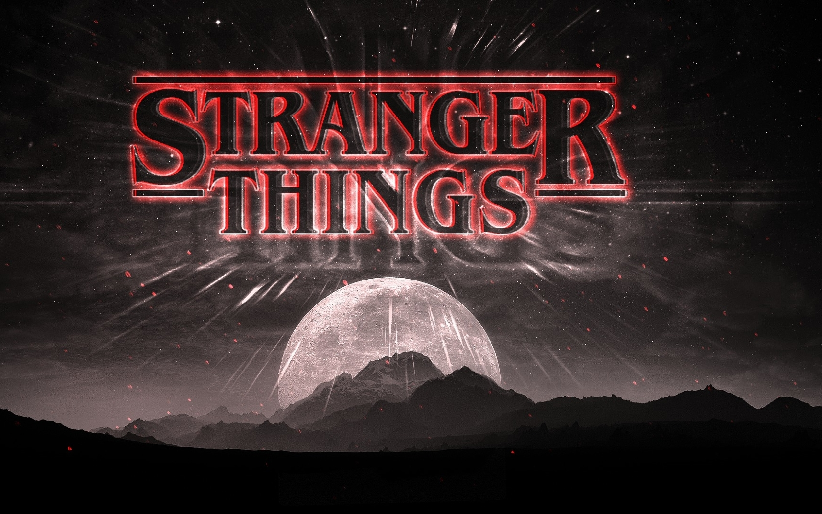 Stranger Things Dark Logo Full HD Wallpaper 1680x1050