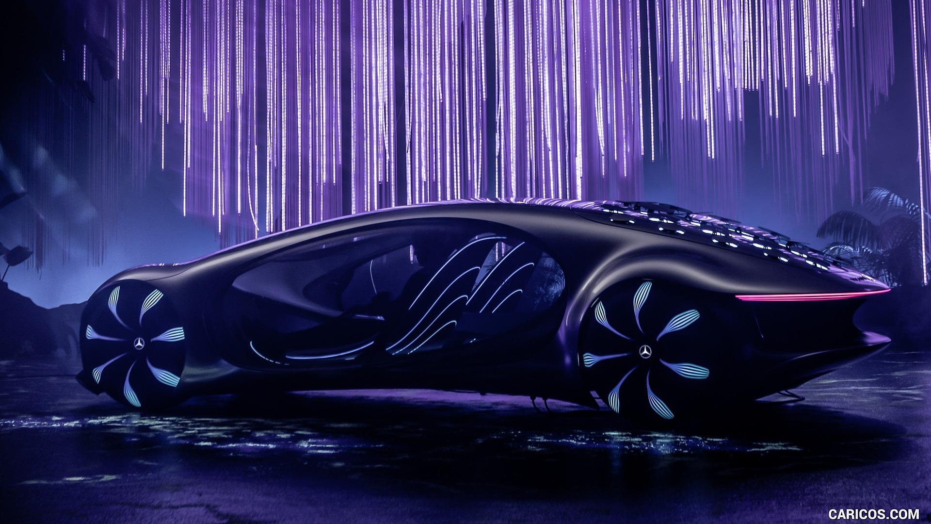 2020 Mercedes Benz VISION AVTR Concept   Side HD Wallpaper 12 1920x1080