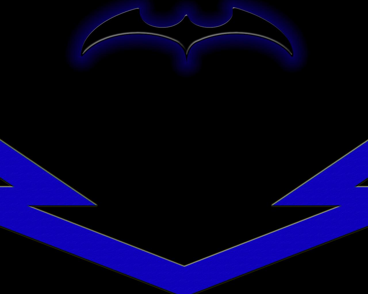 Nightwing Logo Wallpaper   Comic Imagescom 1280x1024
