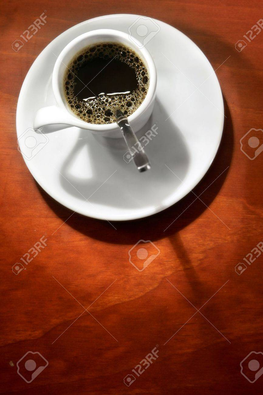 Expresso In White Cup With Warm Background Stock Photo Picture 866x1300
