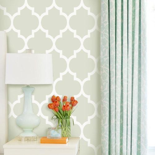 Home Products Modern Classic Green Removable WallPaper 500x500