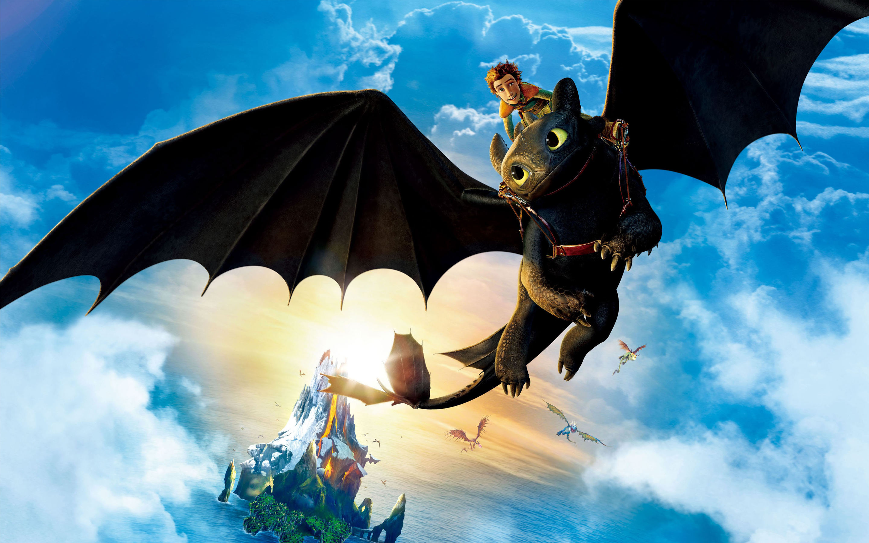 Hiccup Riding Toothless Wallpapers HD Wallpapers 2880x1800