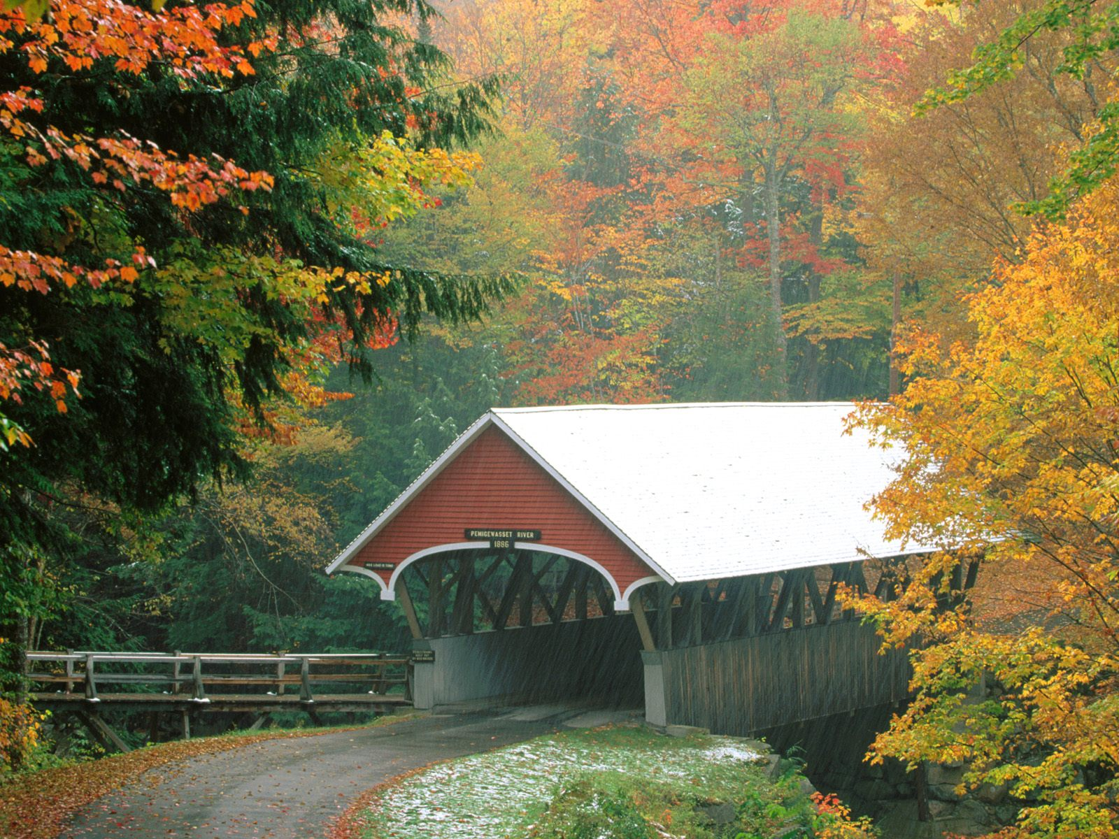 New Hampshire   Bridges Roads Photography Desktop Wallpapers 25952 1600x1200