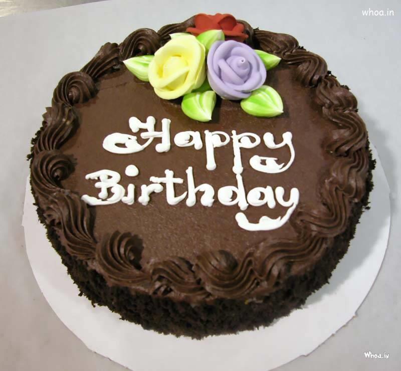 Free download happy birthday chocolate cake hd wallpaper