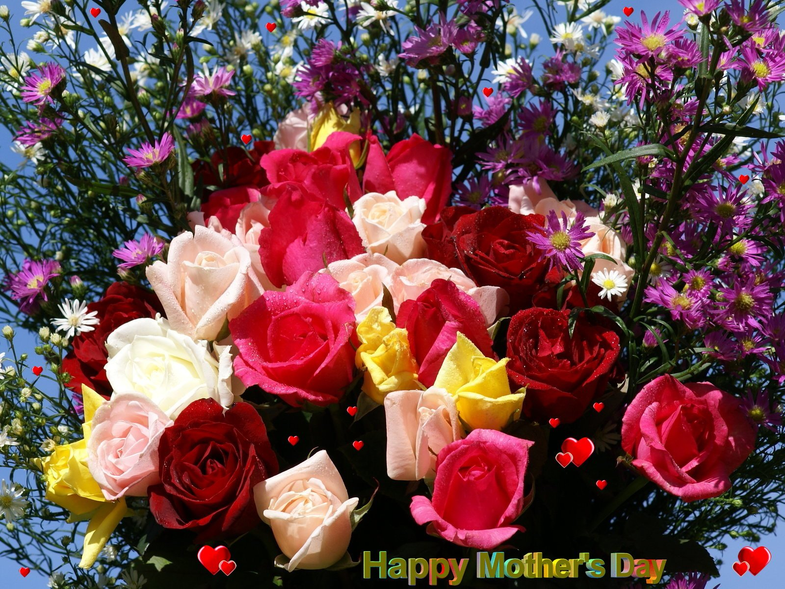 Mothers Day wallpaper beautiful flowers 1600x1200