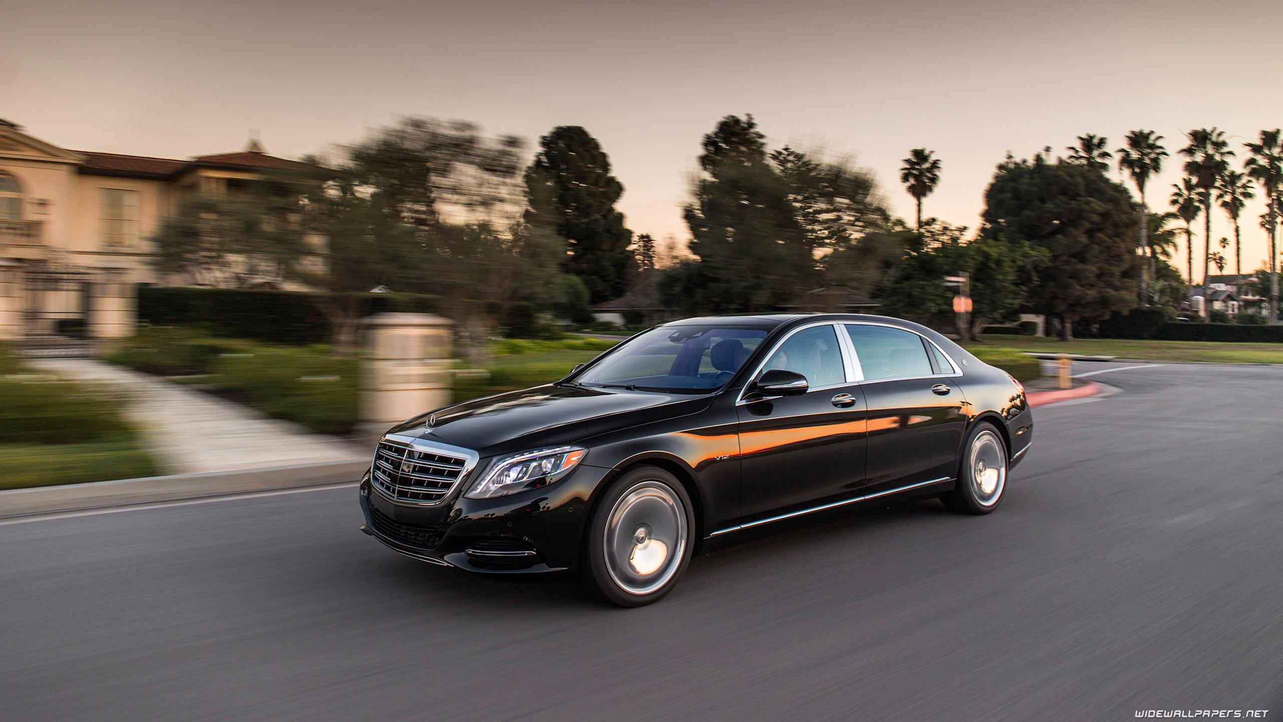 Mercedes Maybach S class cars desktop wallpapers 4K Ultra HD 2560x1440