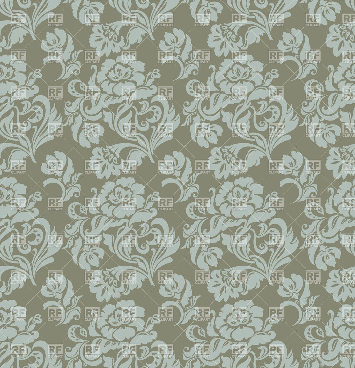 Free Download Seamless Gray Floral Victorian Wallpaper Backgrounds