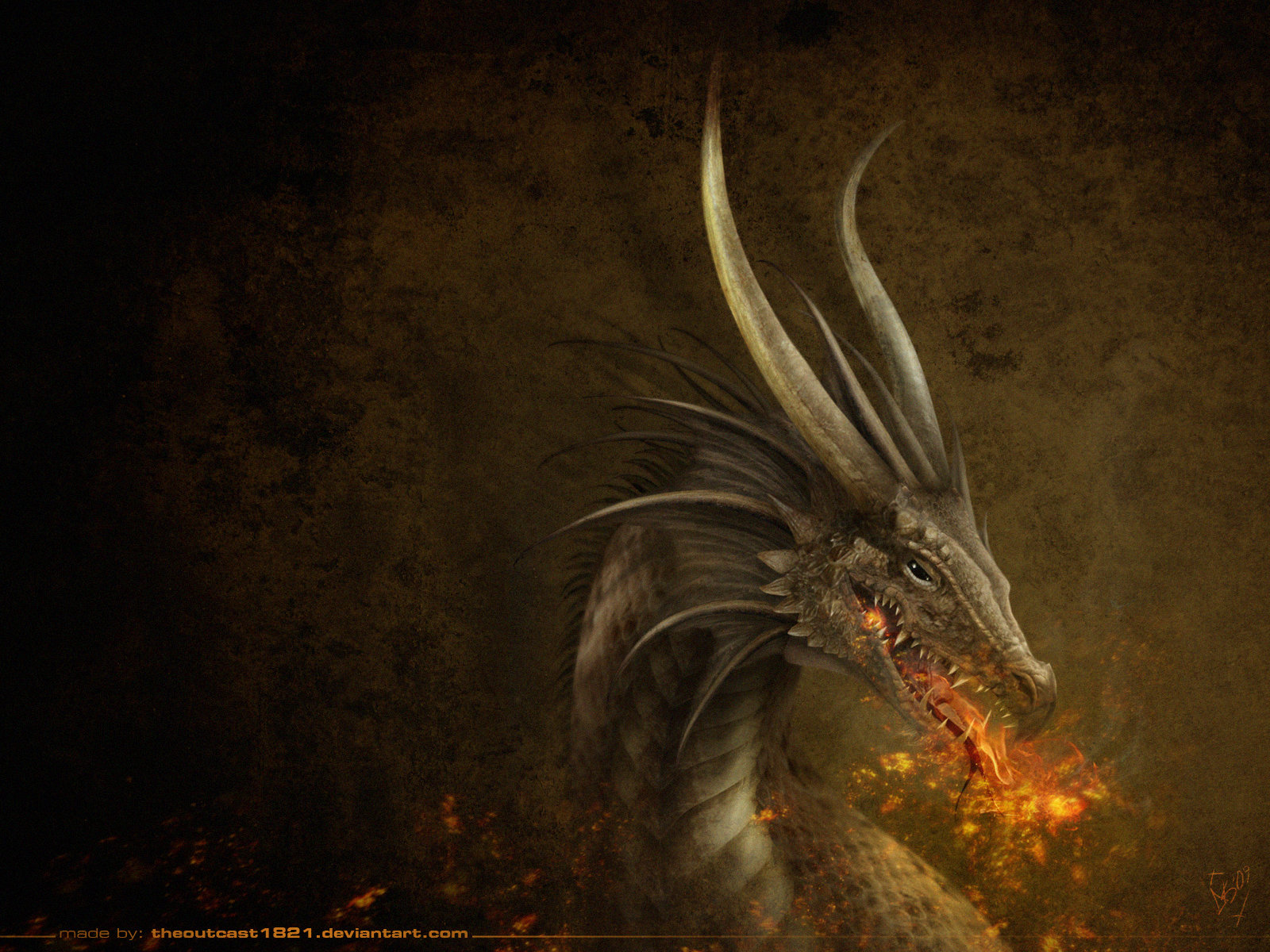 The Dragon wallpaper by TheOutcast1821 on DeviantArt