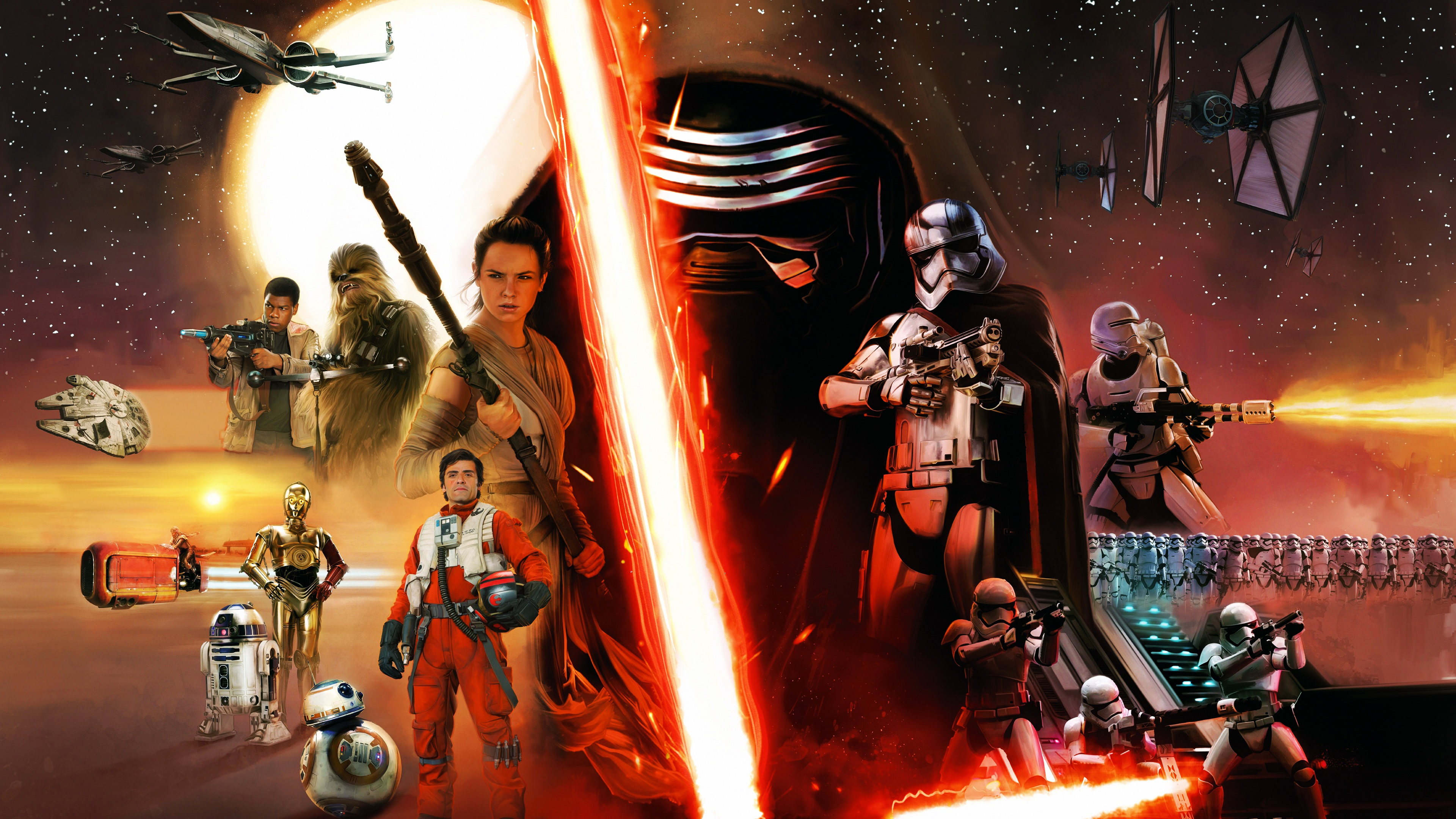 Star Wars Episode VII The Force Awakens Concept Wallpapers HD 3840x2160
