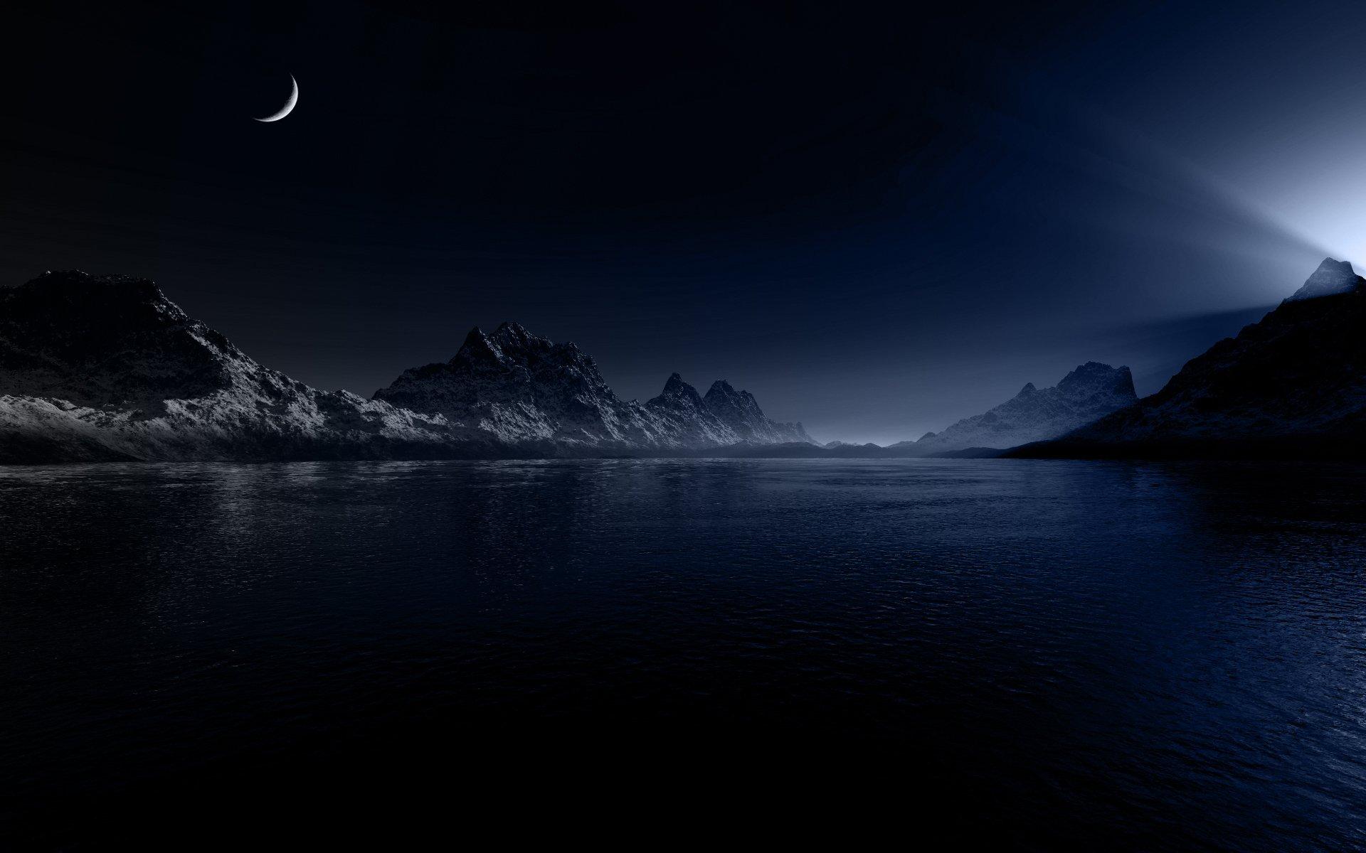 Hd wallpaper night - Landscapes Night Wallpaper 1920x1200 Landscapes Night Moon