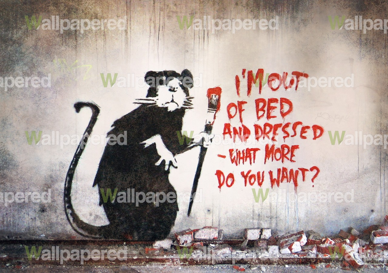 Free Download Banksy Out Of Bed Rat Wall Mural Banksy Wallpaper 1280x900 For Your Desktop Mobile Tablet Explore 49 Banksy Wallpaper For Interiors Banksy Art Wallpaper Banksy Wallpaper 19x1080