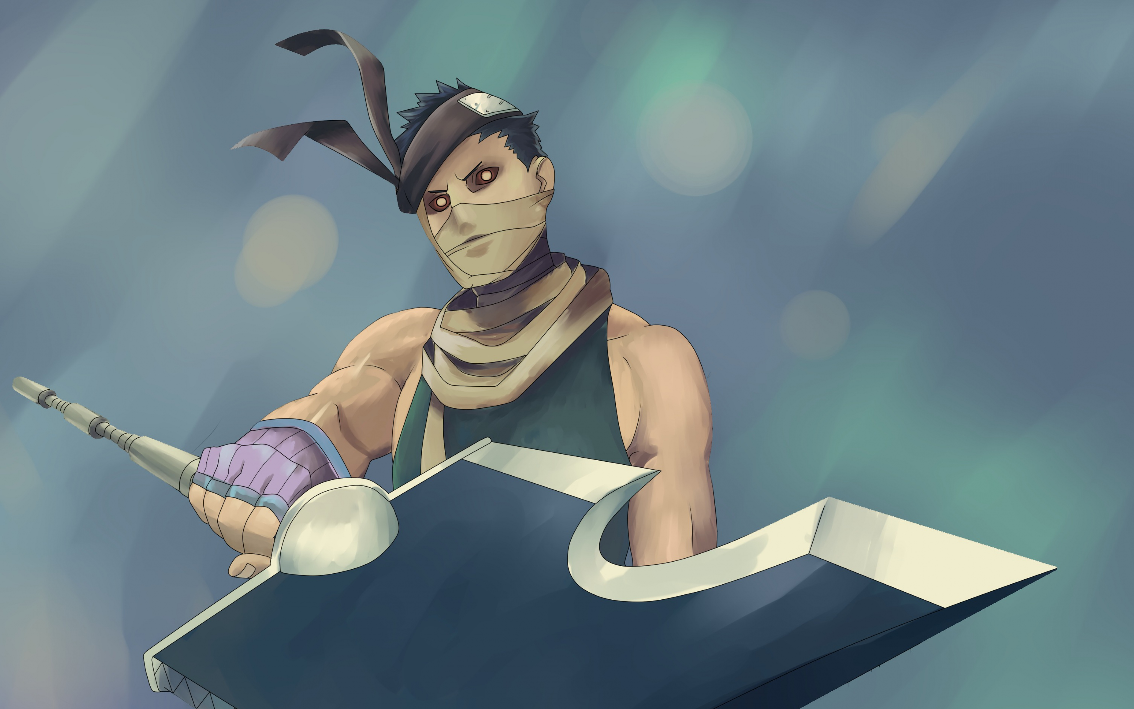 HD Background Zabuza Momochi Sword Weapon Mask Bandages 3840x2400