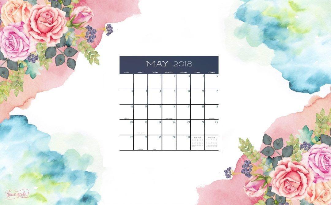 Cute May 2018 Desktop Calendar 2018 Calendars May 2018 1080x670