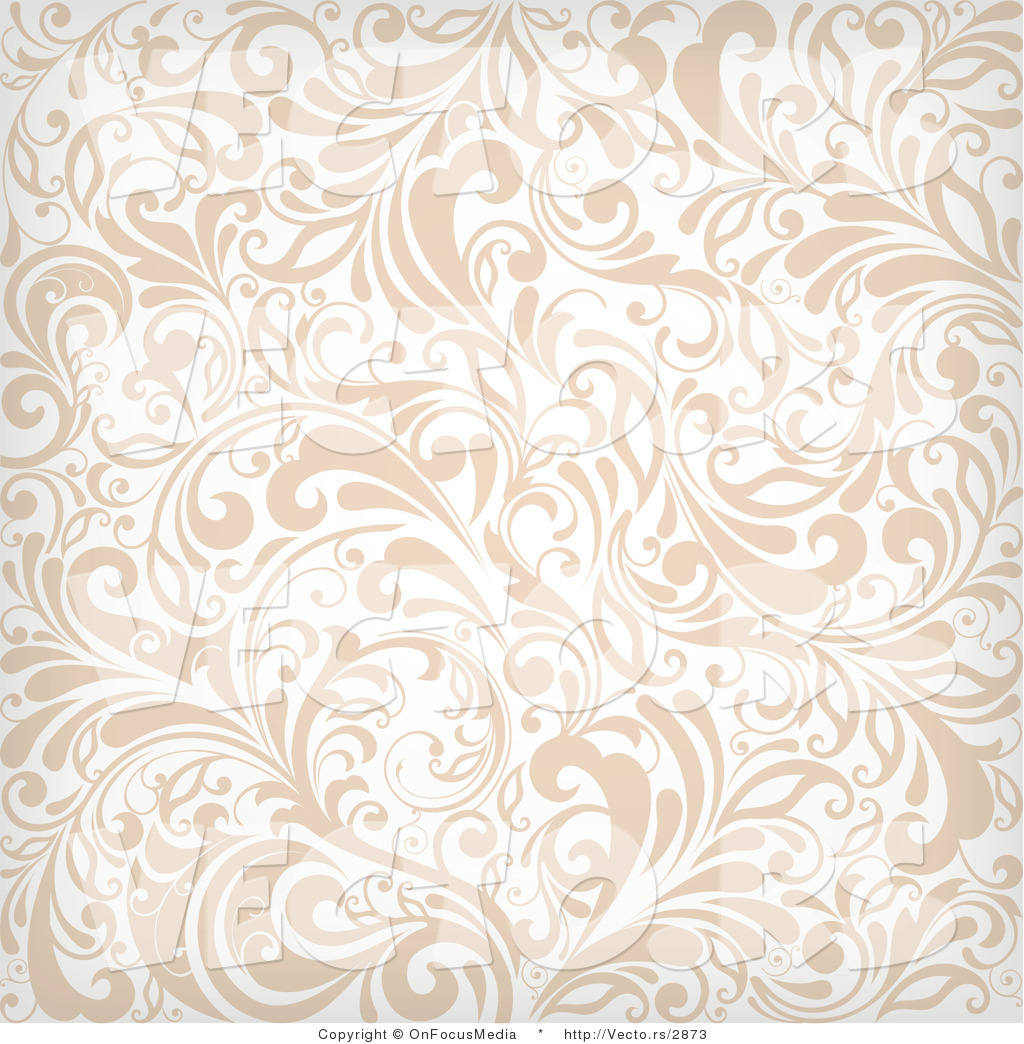 Larger Preview Vector of Beige and White Vines Background Pattern 1024x1044
