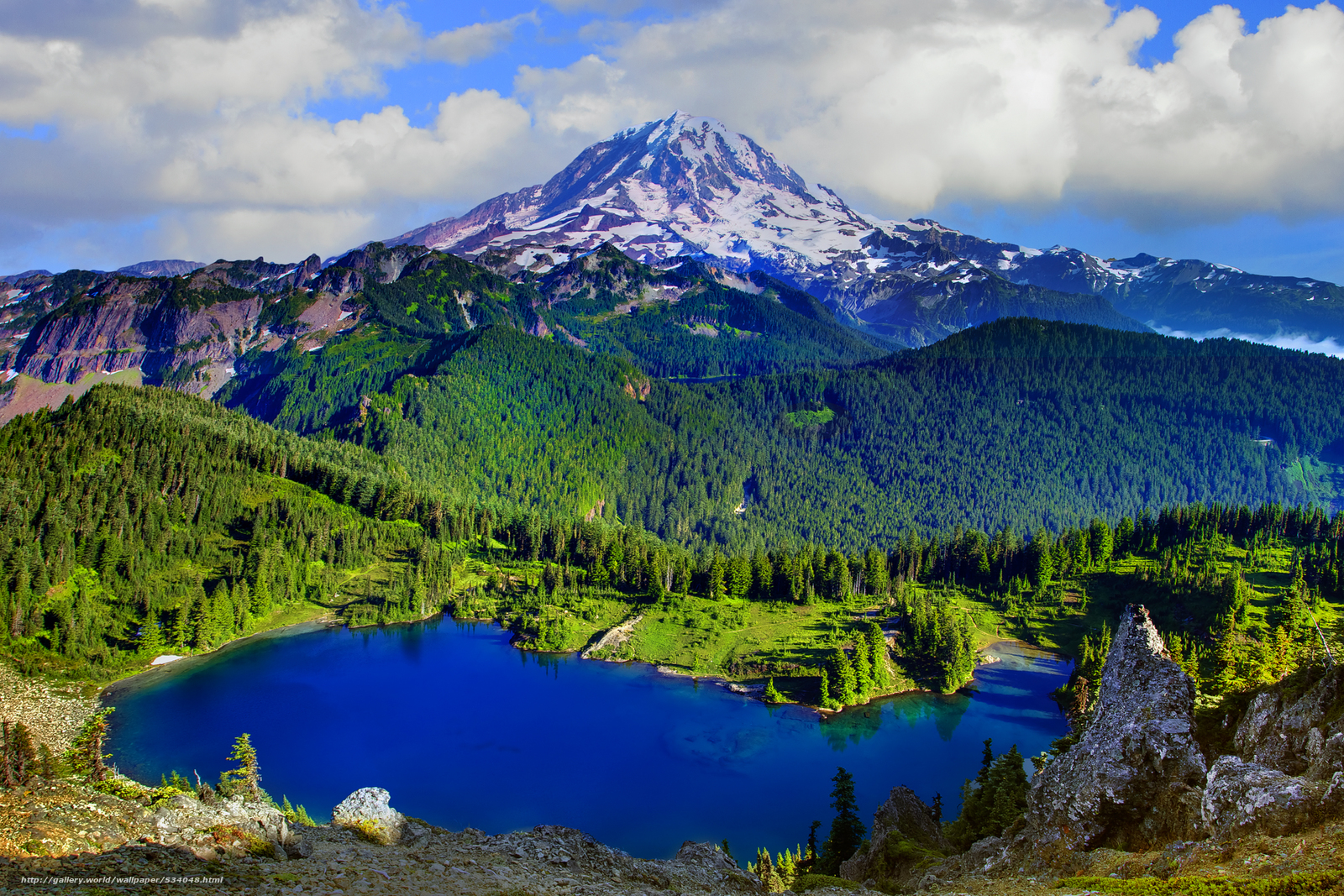 peak mount rainier national park washington desktop wallpaper 1600x1067