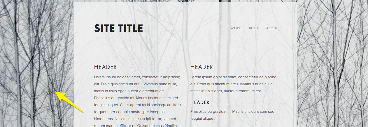 Full bleed images Squarespace Help 1262x438