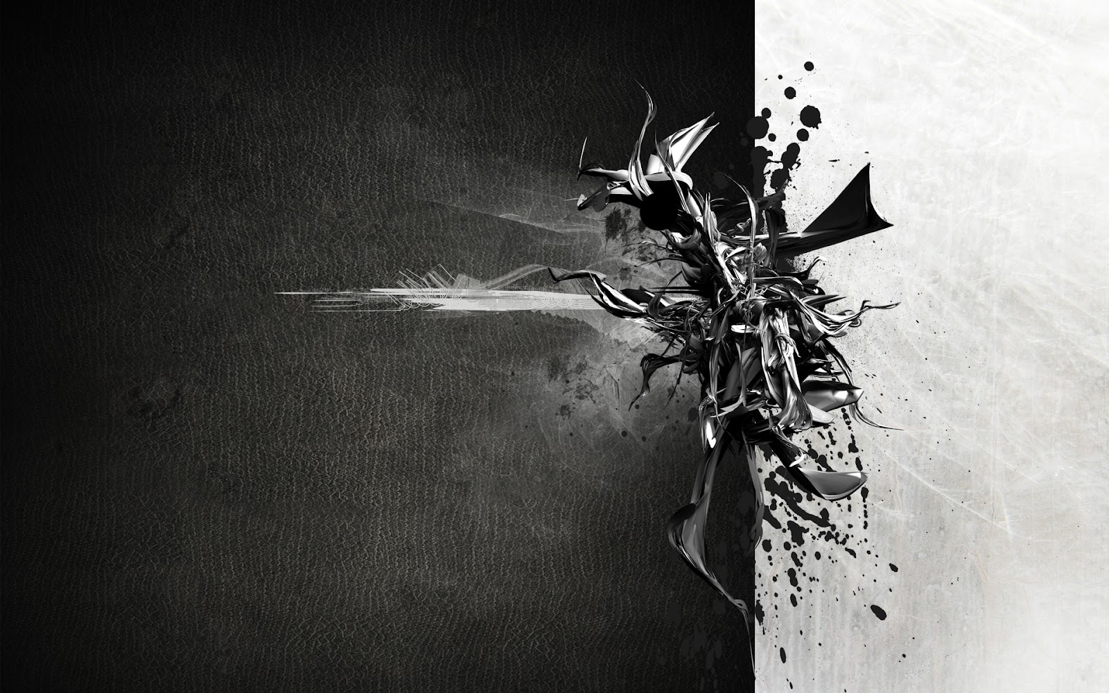 wallpaper 3d abstract black and white awesome   da men magazine 1600x1000