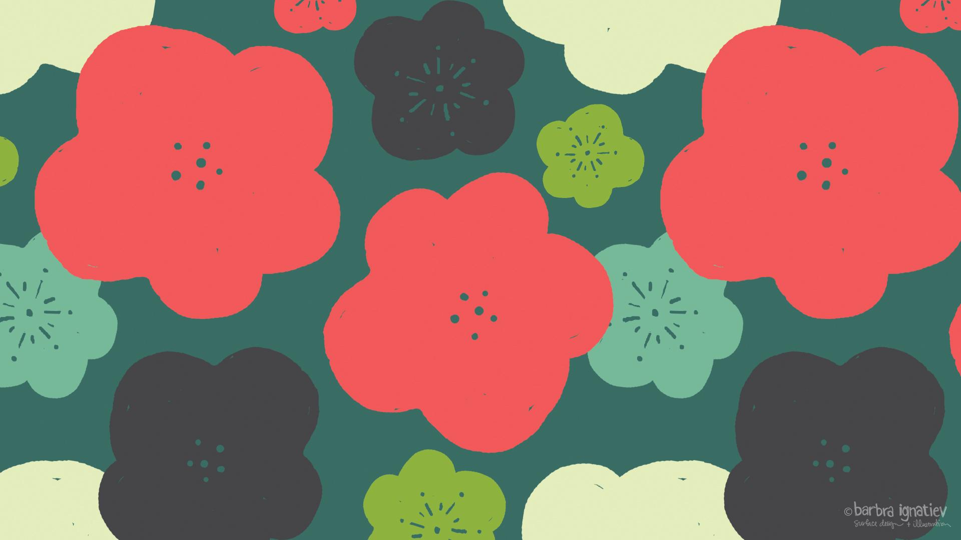 pretty desktop background for sharing pop flower barbra