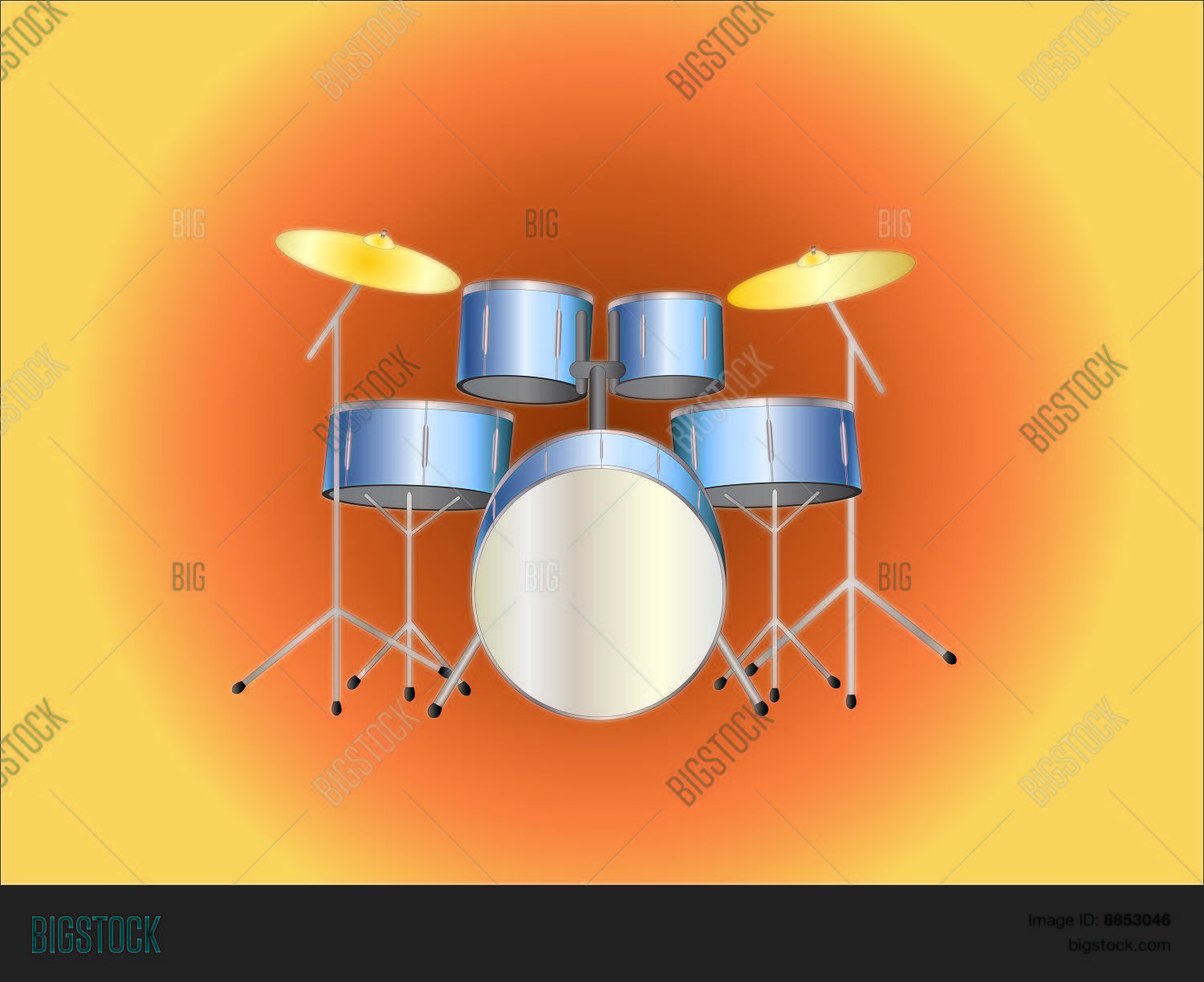 Drumset Background Vector Photo Trial Bigstock 1500x1223