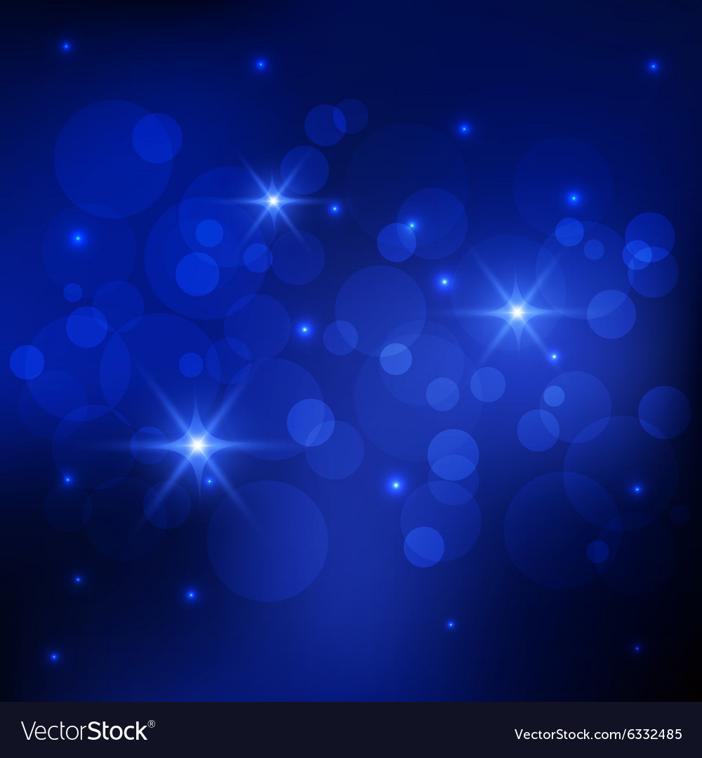 Bokeh deep blue background Royalty Vector Image 1000x1080