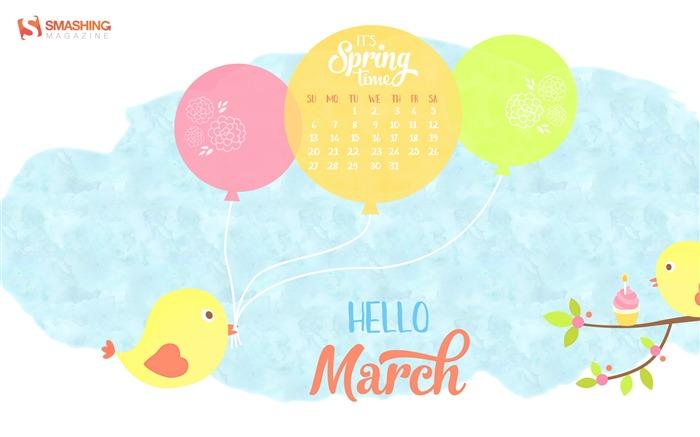 TitleSpring Party March 2016 Calendar Wallpaper Views100 700x437