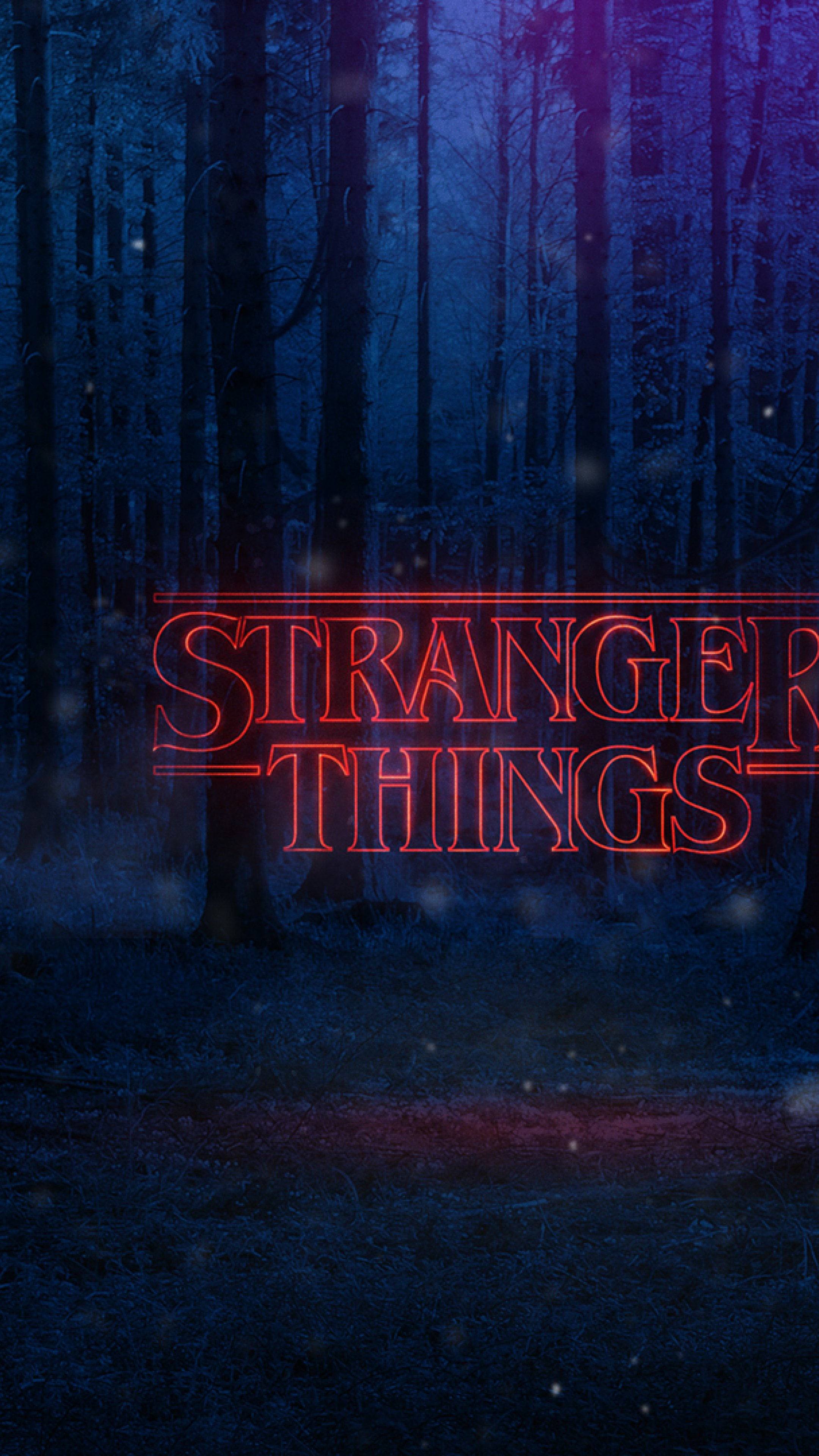 Stranger Things Text Poster Full HD Wallpaper 2160x3840