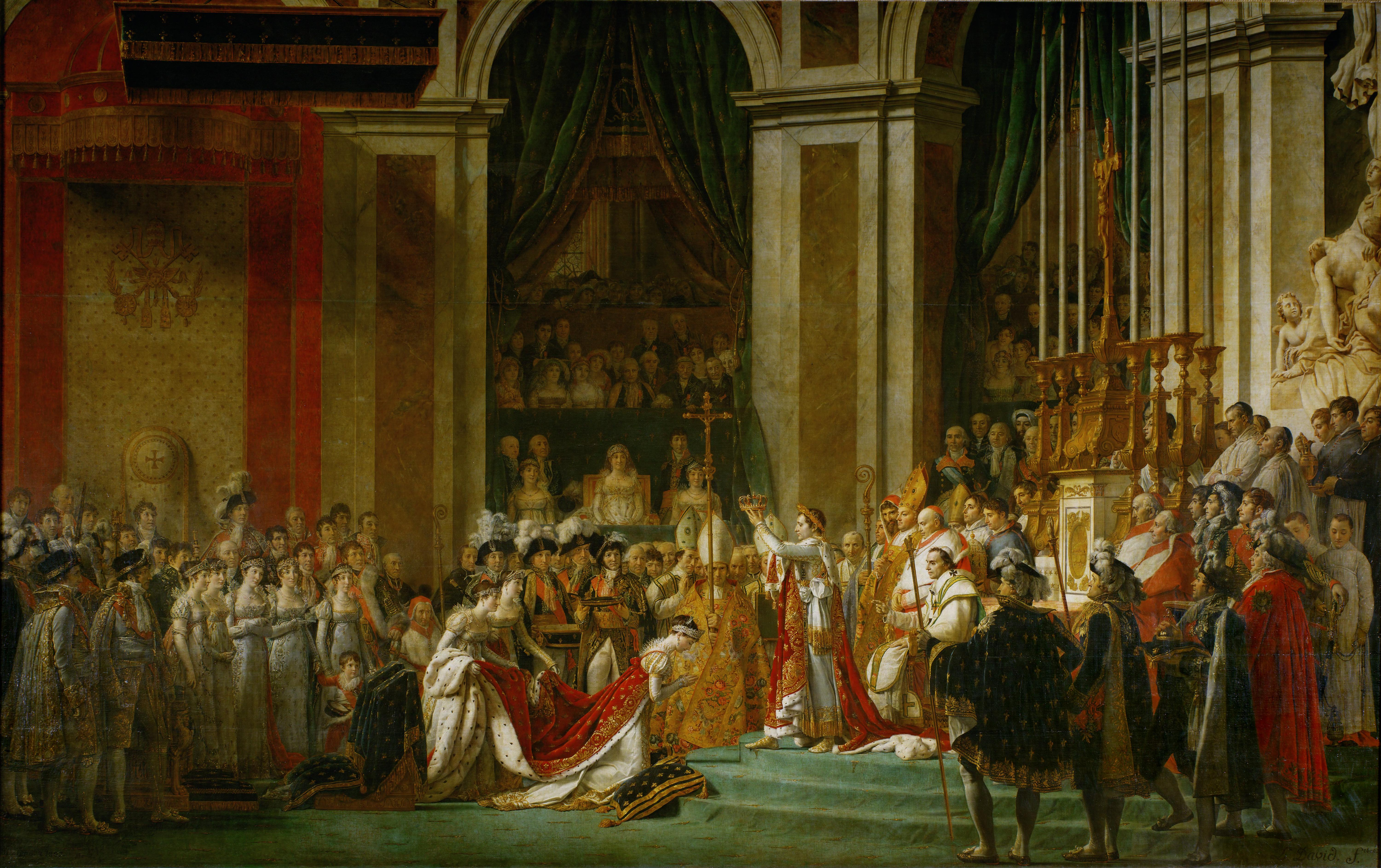 Coronation of Napoleon I   Wikipedia 6000x3773