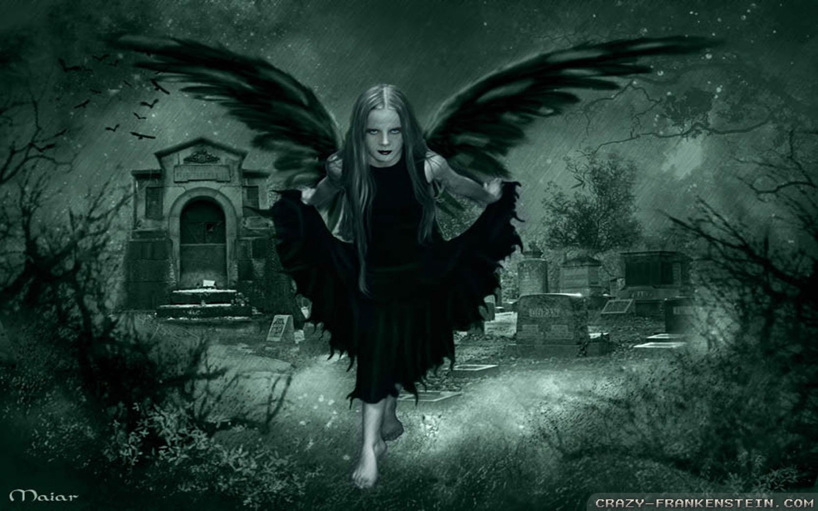 Dark Fairy Gothic Wallpapers 1680x1050 pixel Nature HD Wallpaper 1680x1050