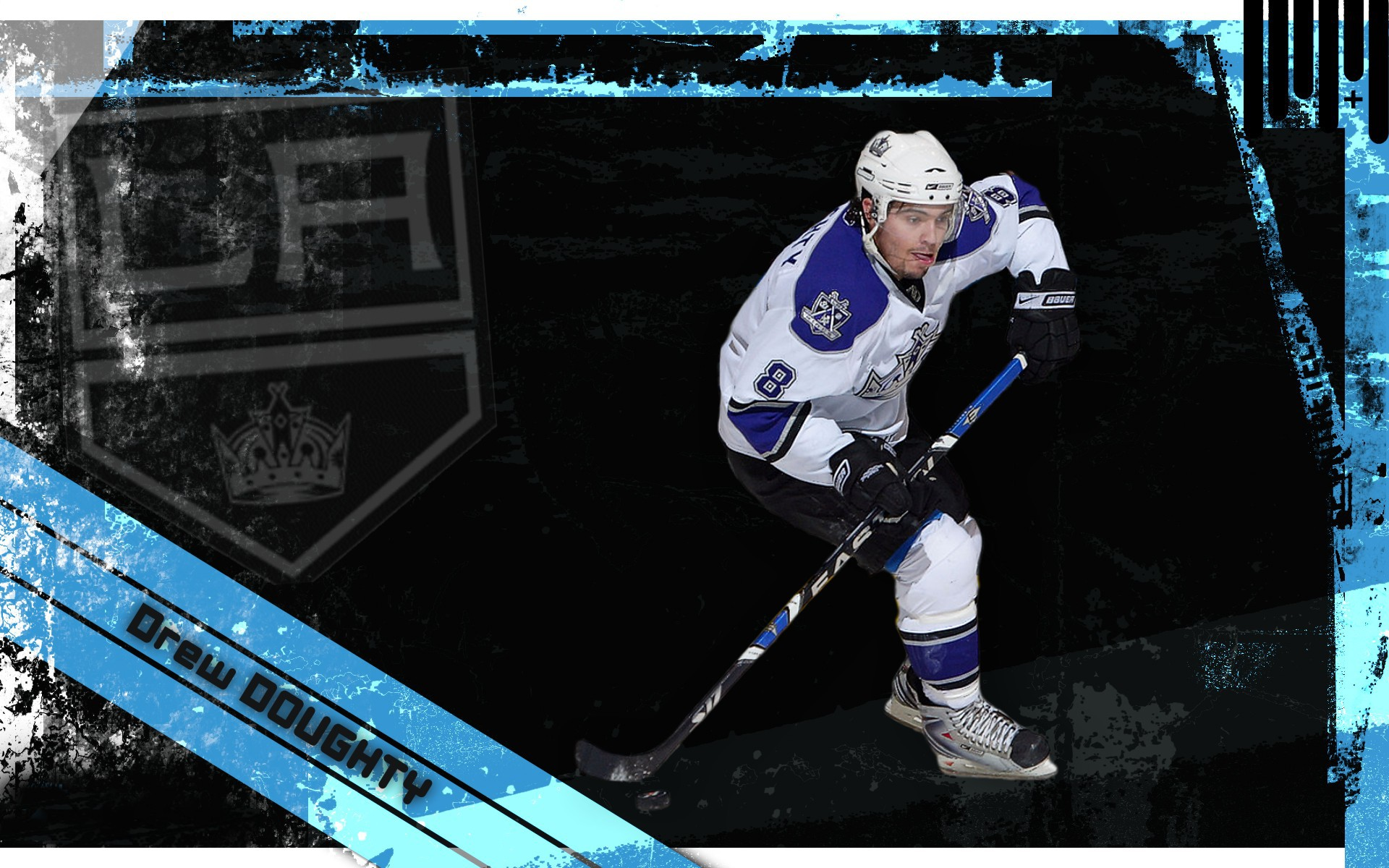 Drew Doughty on black background wallpapers and images 1920x1200 1920x1200