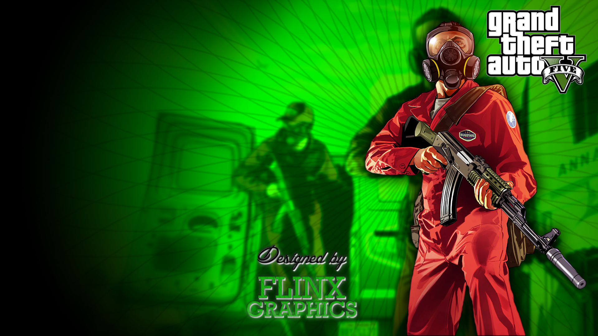 GTA 5 Green Player HD Wallpaper 349 Wallpaper ForWallpaperscom 1920x1080