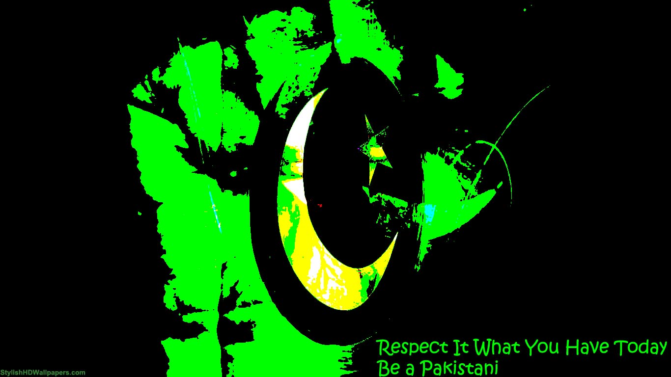 Download Respect Pakistan 14 August Independence Day Wallpaper Search 1366x768