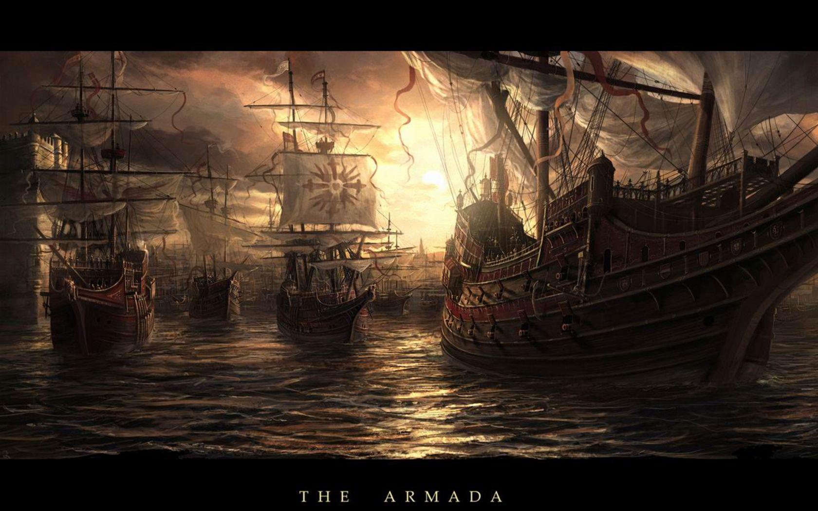The Spanish Armada Ships Old sailing ships Sailing ships Pirates 1680x1050