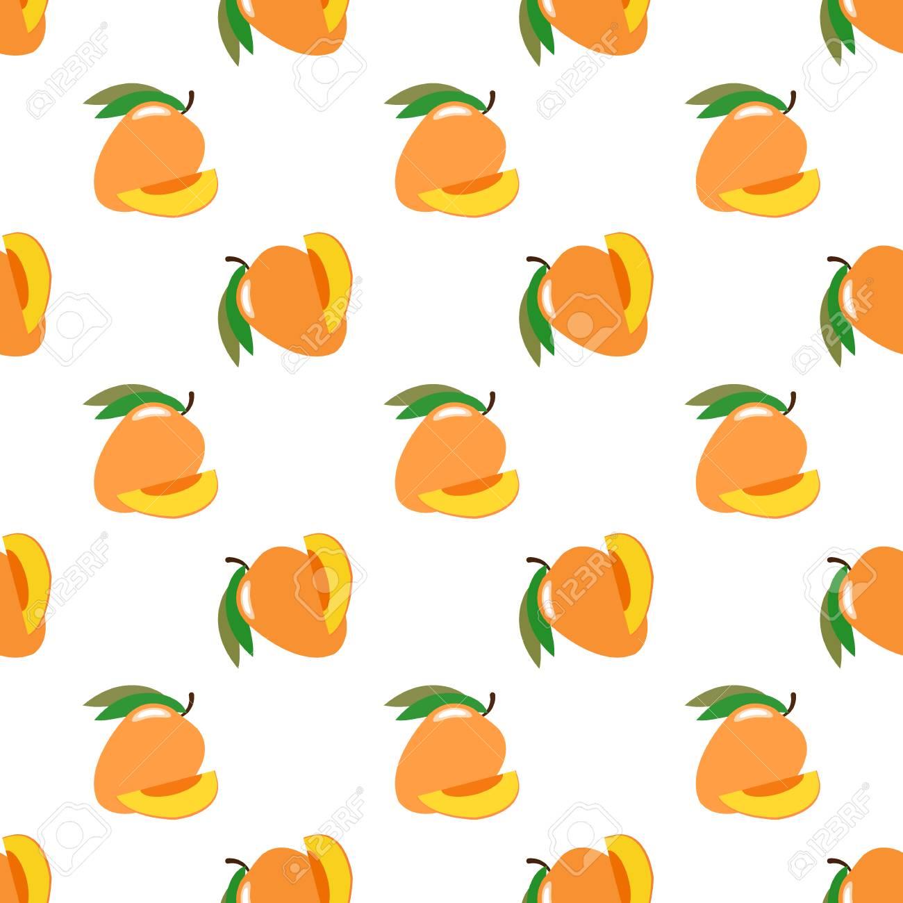 Seamless Background Image Colorful Tropical Fruit Mango Royalty 1300x1300