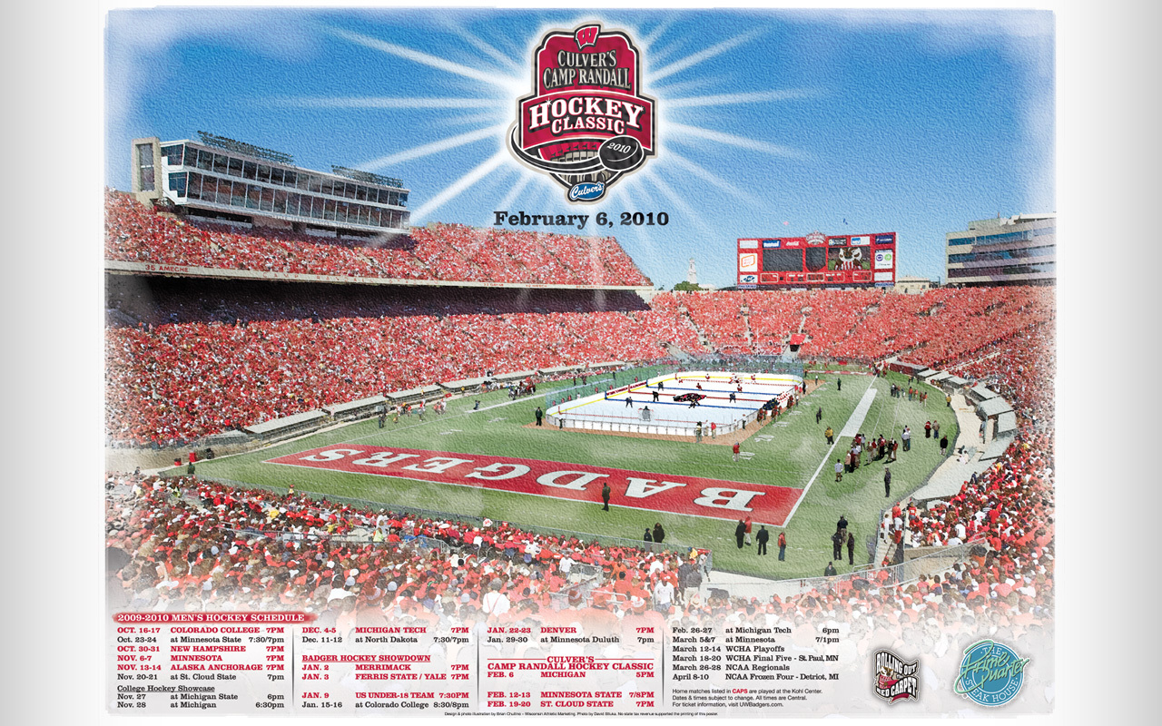 Culvers Camp Randall Hockey Classic desktop wallpapers available 1280x800