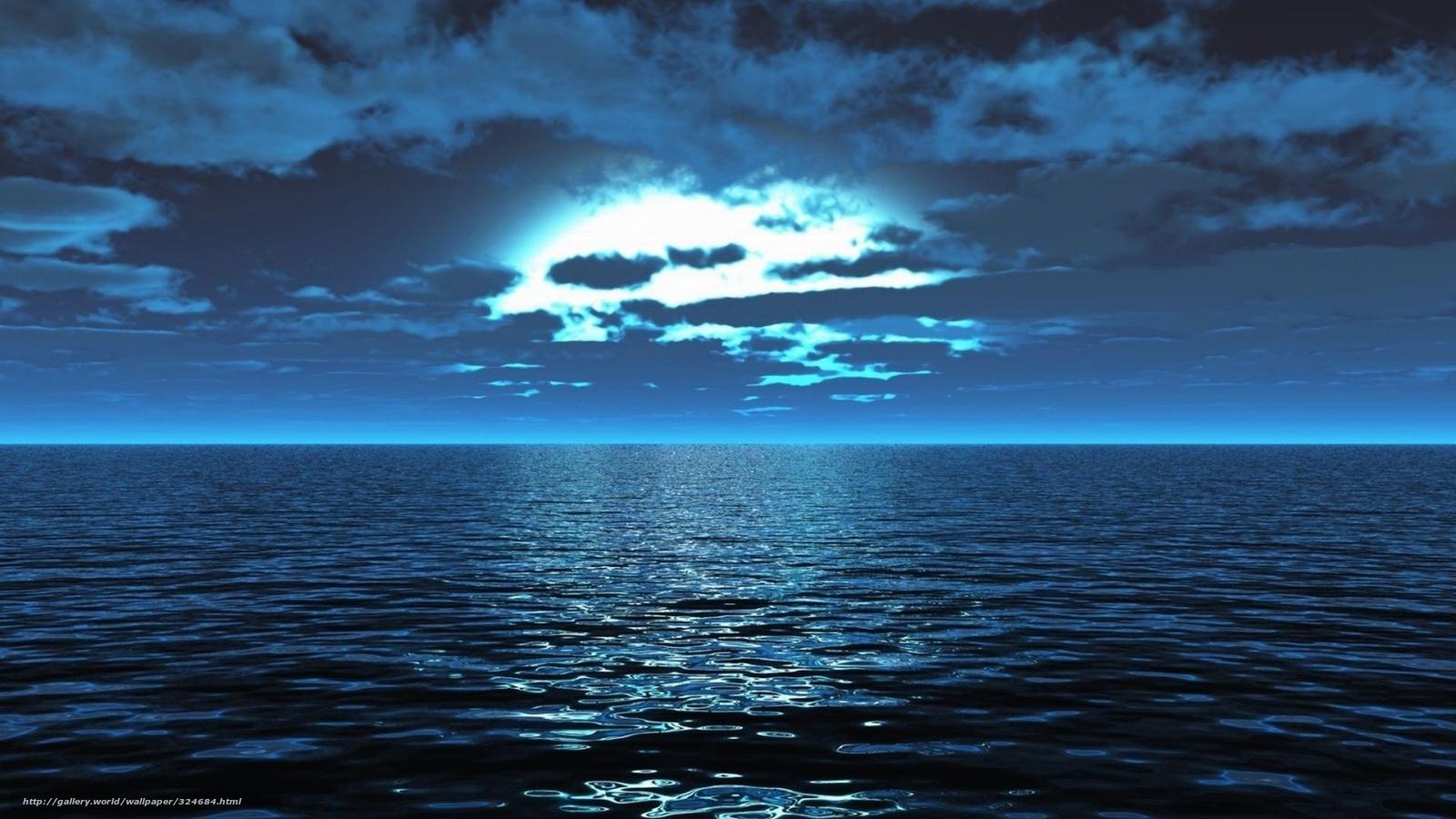 Download wallpaper Smooth surface, blue, Sea free desktop wallpaper in ...
