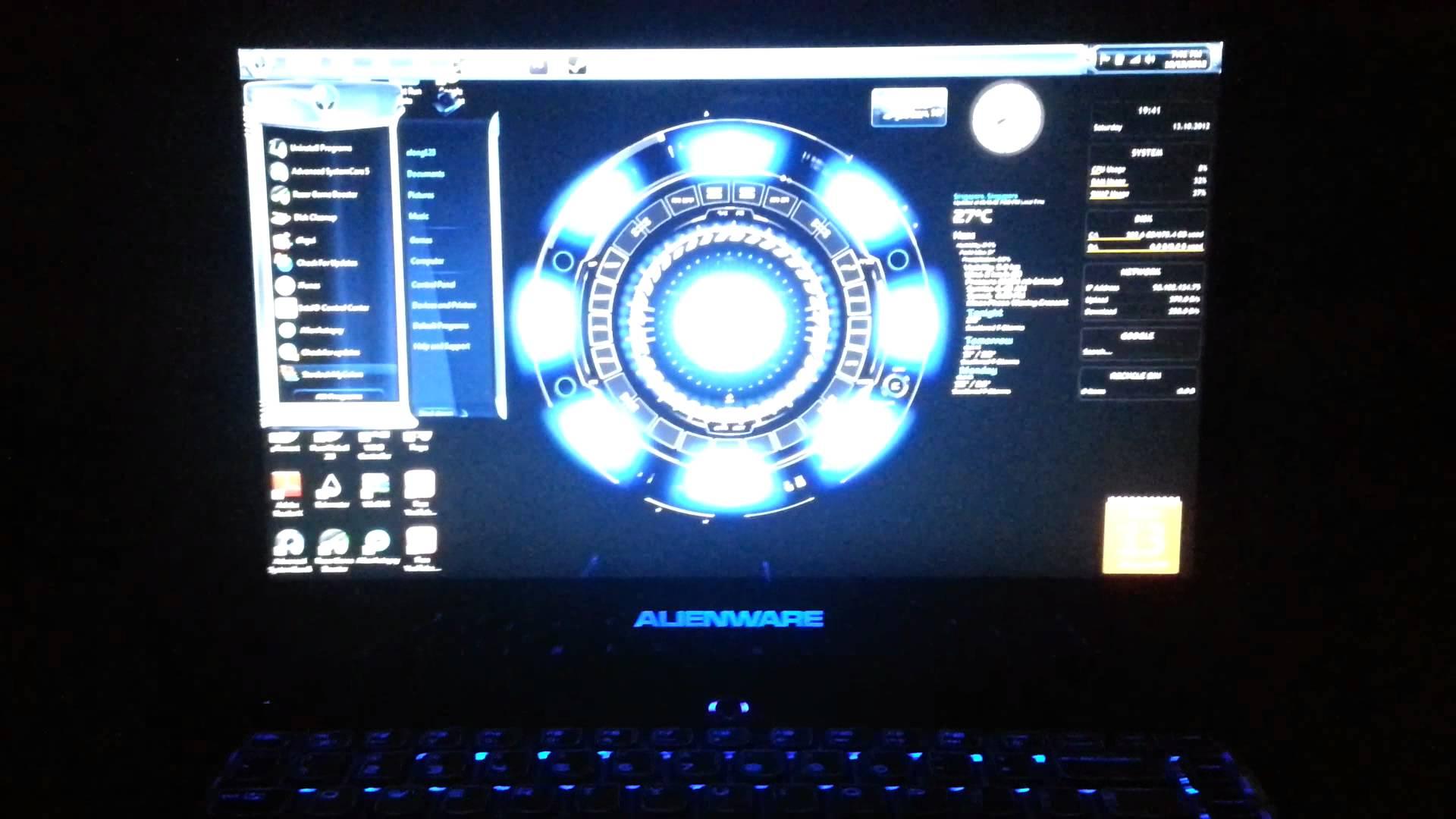 My Alienware laptop m14x R1 live desktop wallpaper 1920x1080
